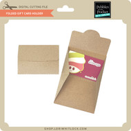 Folded Gift Card Holder