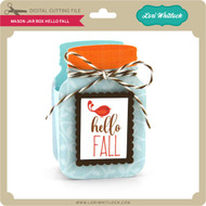 Mason Jar Box Hello Fall