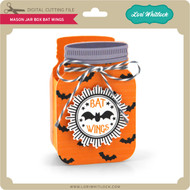 Mason Jar Box Bat Wings
