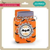 Mason Jar Box Bat Wings