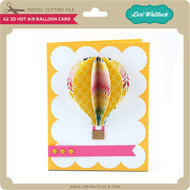 A2 3D Hot Air Balloon Card