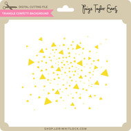 Triangle Confetti Background