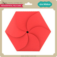 Hexagon Petal Fold Card
