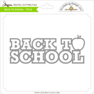 Back To School Title