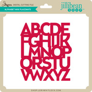 Alphabet Mini Placemats