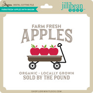 Farm Fresh Apples with Wagon