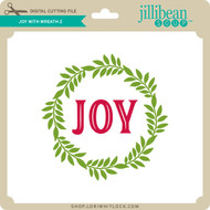 Joy With Wreath 2