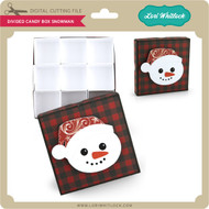 DIvided Candy Box Snowman