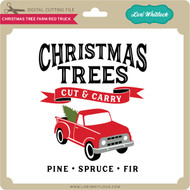 Christmas Tree Farm Red Truck