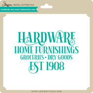 Hardware and Home Furnishing Signs