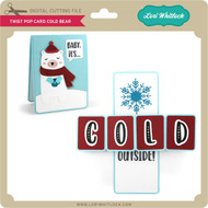 Twist Pop Card Cold Bear
