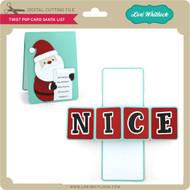 Twist Pop Card Santa List