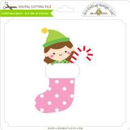 Christmas Magic - Elf Girl in Stocking