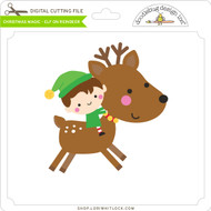 Christmas Magic - Elf on Reindeer