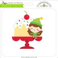 Christmas Magic - Elf with Cake