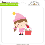 Christmas Magic - Elf with Cupcake