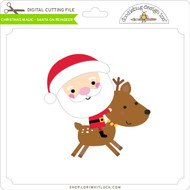 Christmas Magic - Santa on Reindeer
