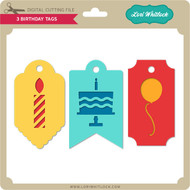3 Birthday Tags