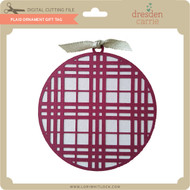 Plaid Ornament Gift Tag