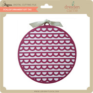 Scallop Ornament Gift Tag