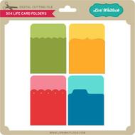 3x4 Life Card Folders