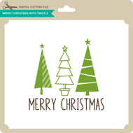 Merry Christmas with Trees 2