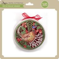 Festive Pheasant Ornament
