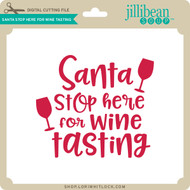 Santa Stop Here for Wine Tasting