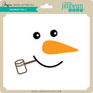 Snowman Face 3