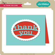 A2 Thank You Card