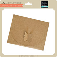 A2 Notecard Envelope Box with Butterfly