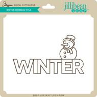 Winter Snowman Title