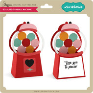 Box Card Valentine Gumball Machine