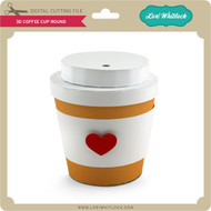 3D Coffee Cup Round