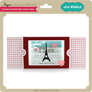 Sliding Shadow Box Card Paris