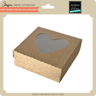 Heart Window Cookie Box Scalloped Edge