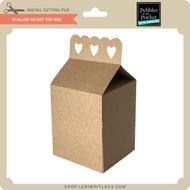 Scallop Heart Top Box