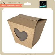 Take Out Box with Heart Window