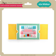 Sliding Shadow Box Card Birthday Daughter