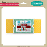 Sliding Shadow Box Card Happy Birthday