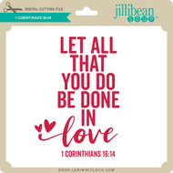 1 Corinthians 16 14