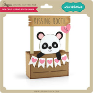 Box Card Kissing Booth Panda