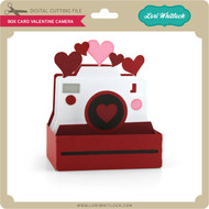 Box Card Valentine Camera