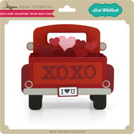 Box Card Valentine Truck Back End