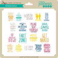 Bathroom Phrase Bundle 3