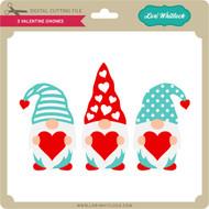 3 Valentine Gnomes
