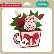 Box Card Teacup Valentine Roses
