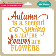 Autumn Second Spring Title