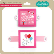 Surprise Window Card Birthday Balloon