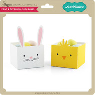 Print & Cut Bunny Chick Boxes